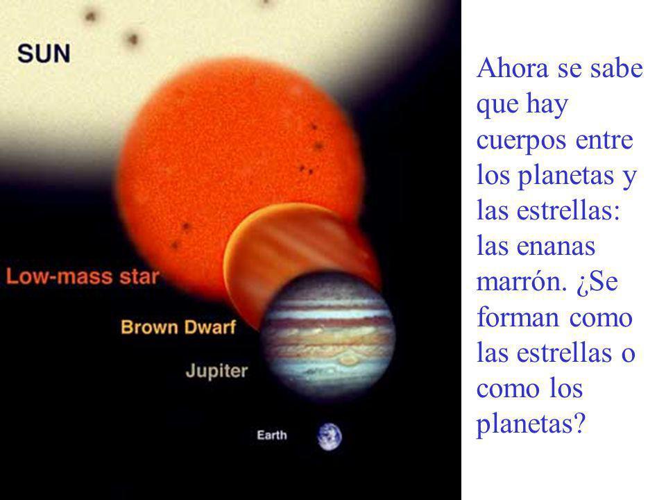 Ahora se sabe que hay cuerpos entre los planetas y las estrellas: las enanas marrón.