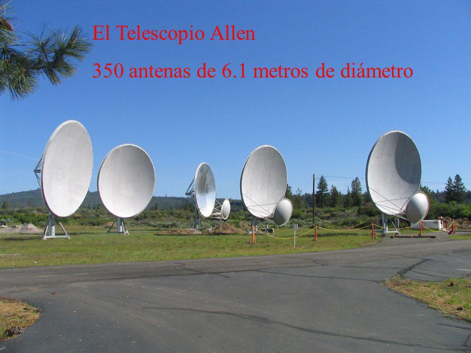 El Telescopio Allen 350 antenas de 6.1 metros de diámetro