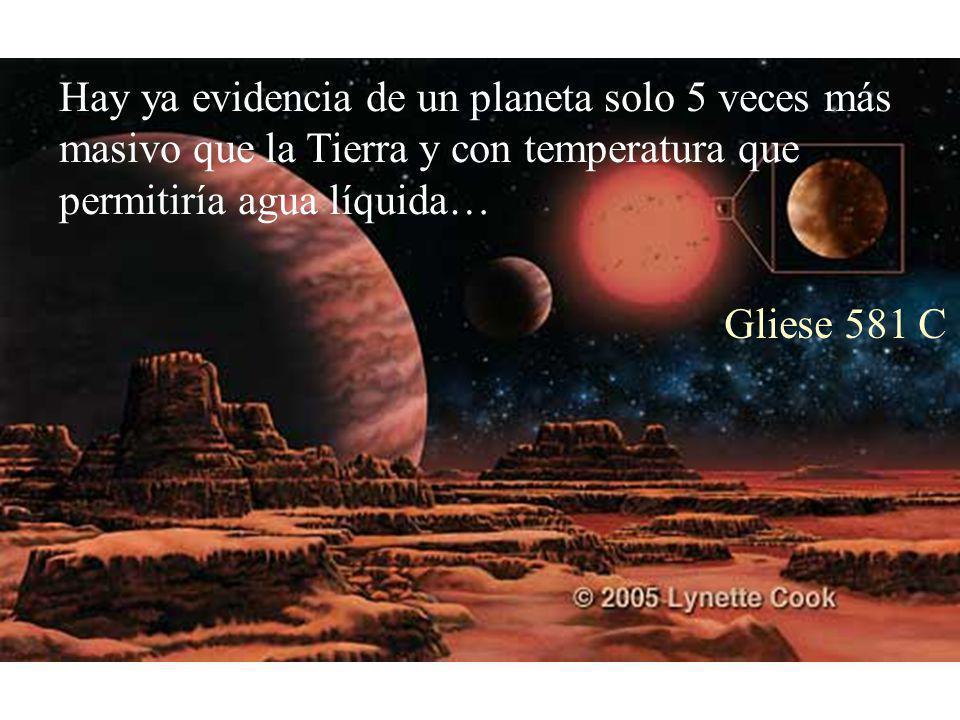 Hay ya evidencia de un planeta solo 5 veces más masivo que la Tierra y con temperatura que permitiría agua líquida… Gliese 581 C