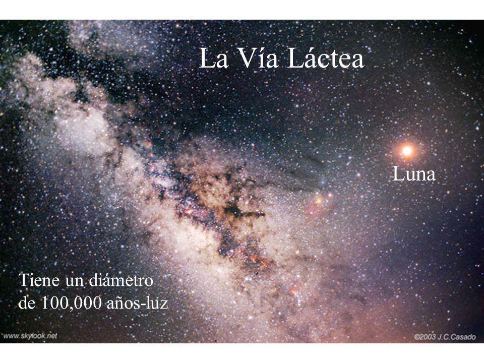 Luna La Vía Láctea Tiene un diámetro de 100,000 años-luz