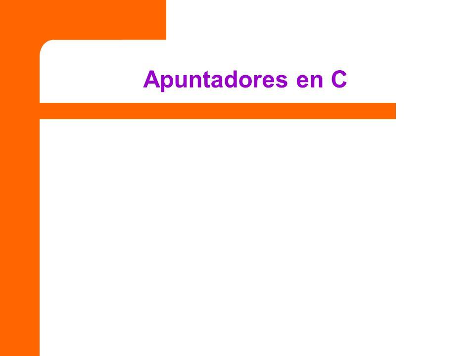 Apuntadores en C