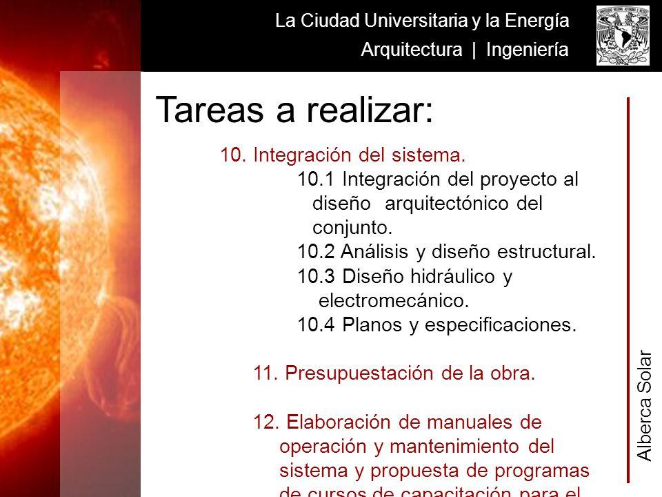 Alberca Solar La Ciudad Universitaria y la Energía Arquitectura | Ingeniería 10. Integración del sistema. 10.1 Integración del proyecto al diseño arqu