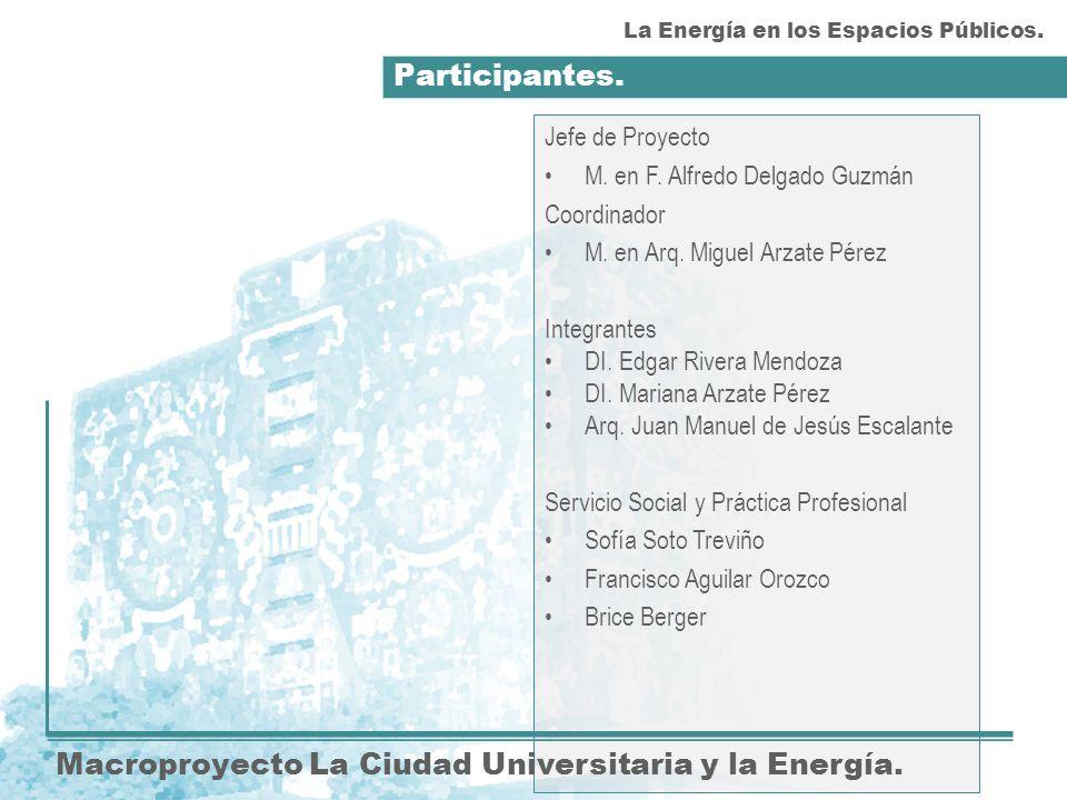 Participantes. Macroproyecto La Ciudad Universitaria y la Energía.