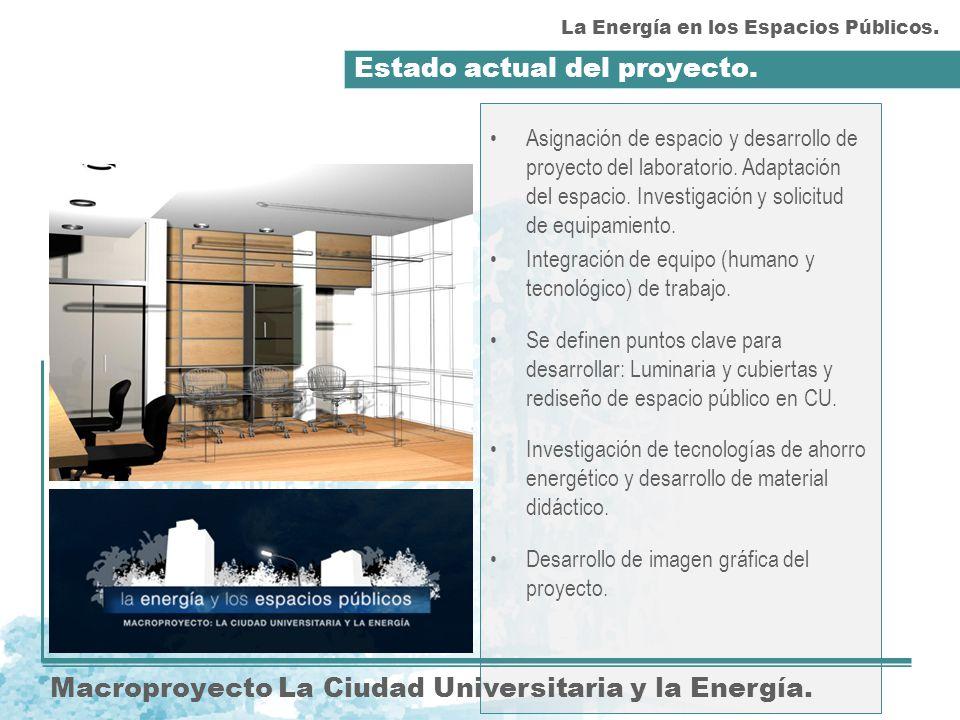 Estado actual del proyecto. Macroproyecto La Ciudad Universitaria y la Energía.