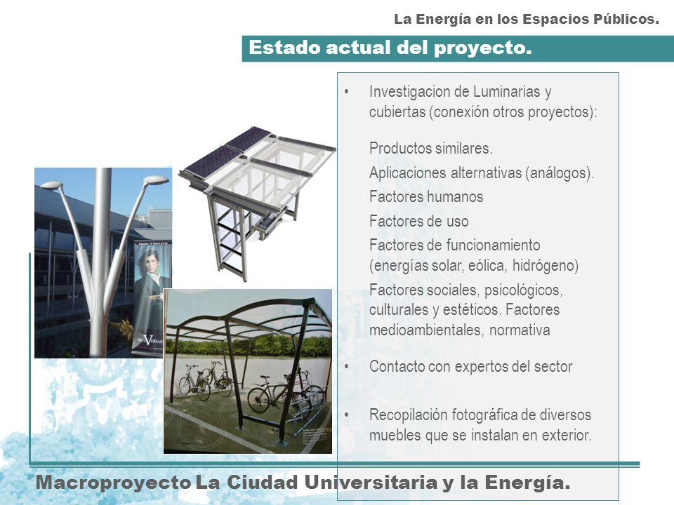 Actividades futuras.Macroproyecto La Ciudad Universitaria y la Energía.