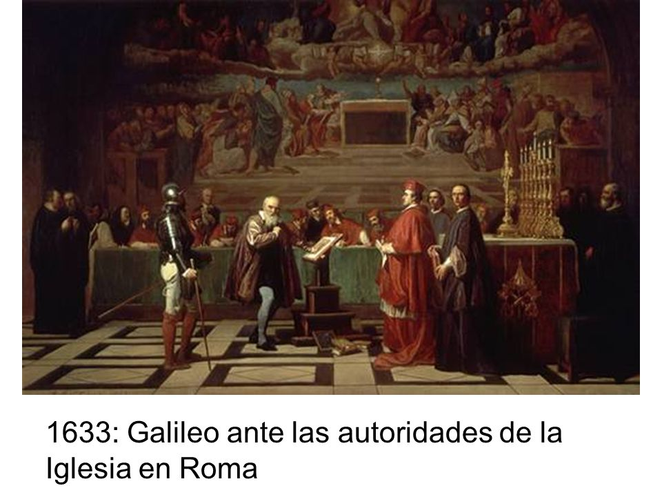 En 1632, publica su libro Diálogo sobre los Sistemas del Mundo, donde favorece claramente al sistema heliocéntrico de Copérnico y a través del personaje Simplicio representa y ridiculiza al Papa Urbano VIII.