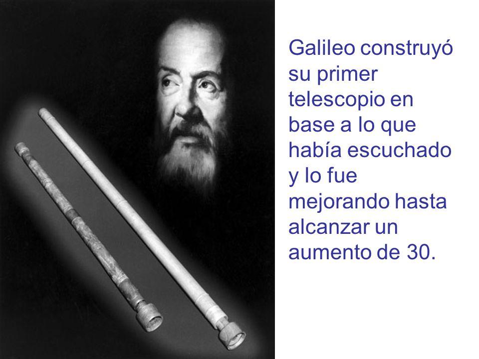 Bosquejo de la Luna hecho por Galileo en 1609