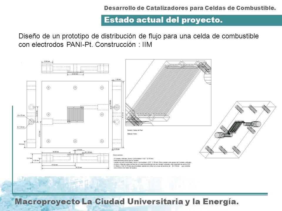 Diseño de un prototipo de distribución de flujo para una celda de combustible con electrodos PANI-Pt. Construcción : IIM Estado actual del proyecto. D