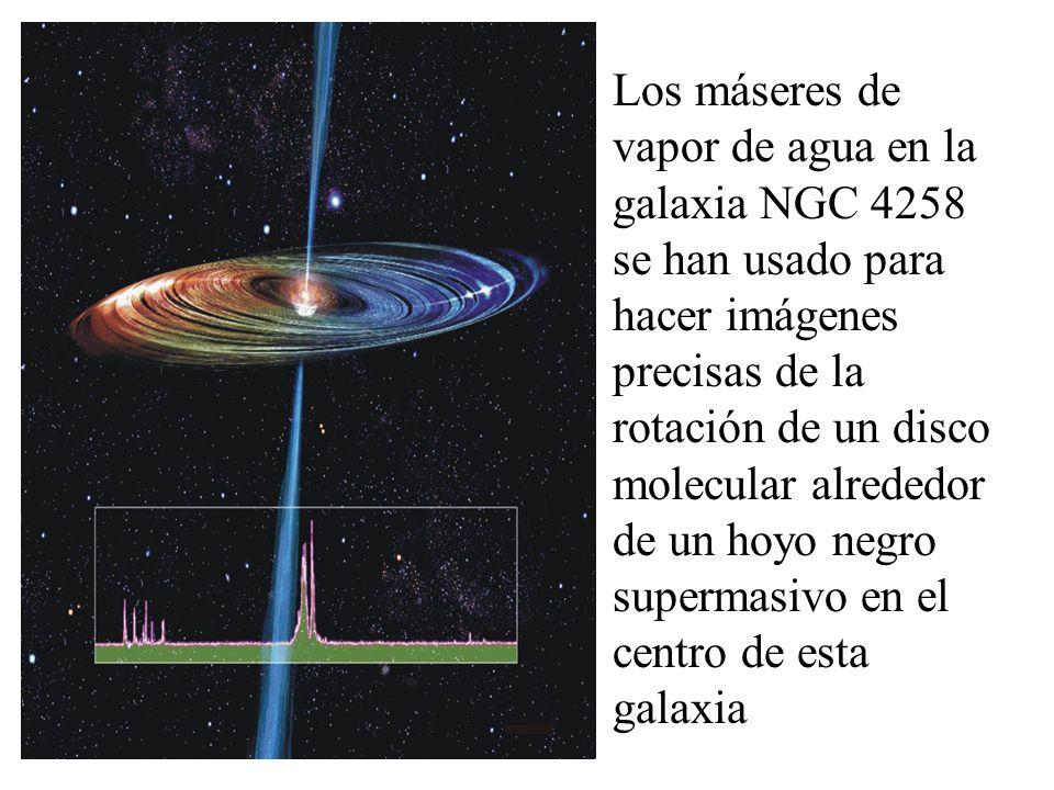 Se han medido movimientos de máseres de agua en la galaxia M33