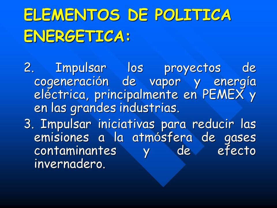 ELEMENTOS DE POLITICA ENERGETICA: 2.