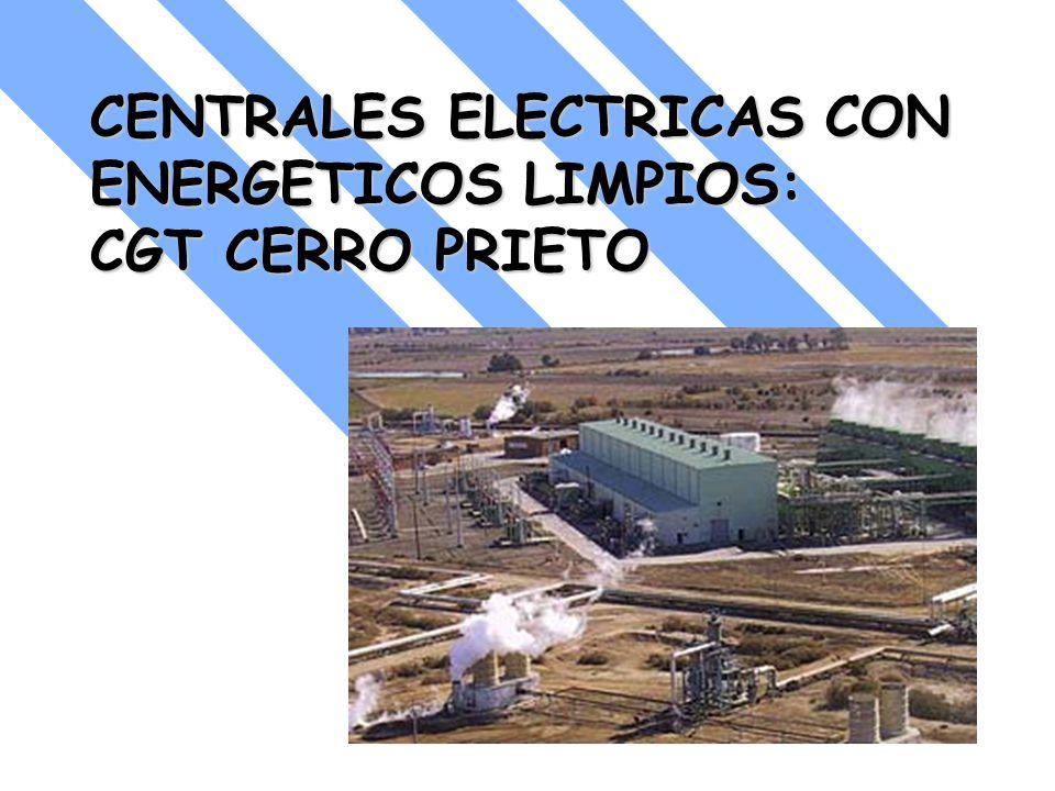 CENTRALES ELECTRICAS CON ENERGETICOS LIMPIOS: CGT CERRO PRIETO