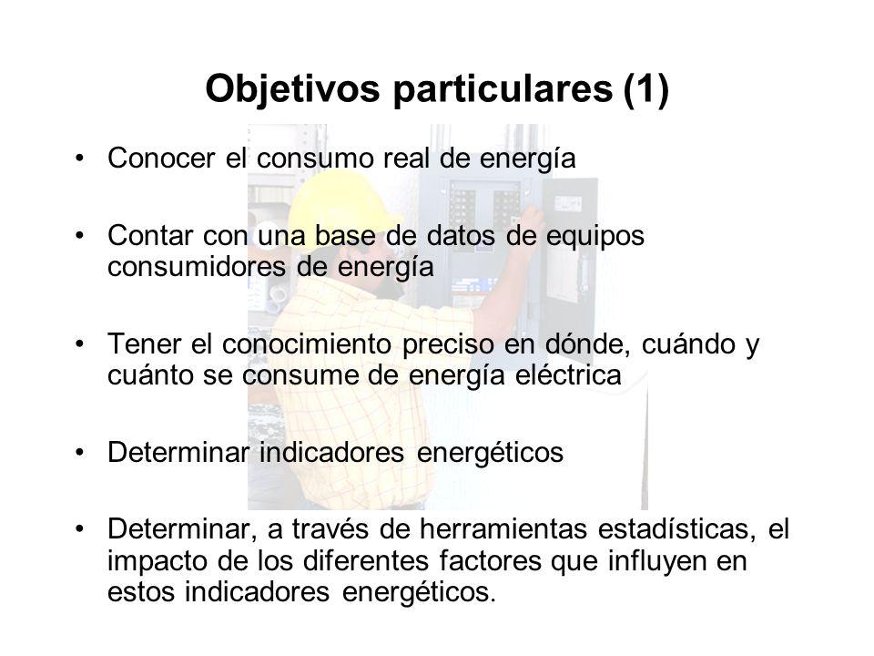 Objetivos particulares (2) Validar los modelos obtenidos tomando como criterio principal la comparación de sus resultados con los medidos.