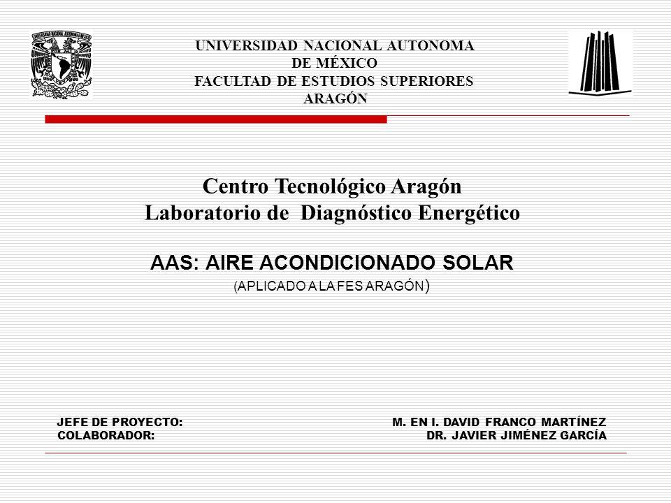 Objetivo General Diseñar y construir un dispositivo híbrido de aire acondicionado que utilice energía convencional (electricidad) y energía solar, para disminuir los consumos de energía de origen fósil, aplicado a lugares de la FES Aragón que utilicen aire acondicionado.