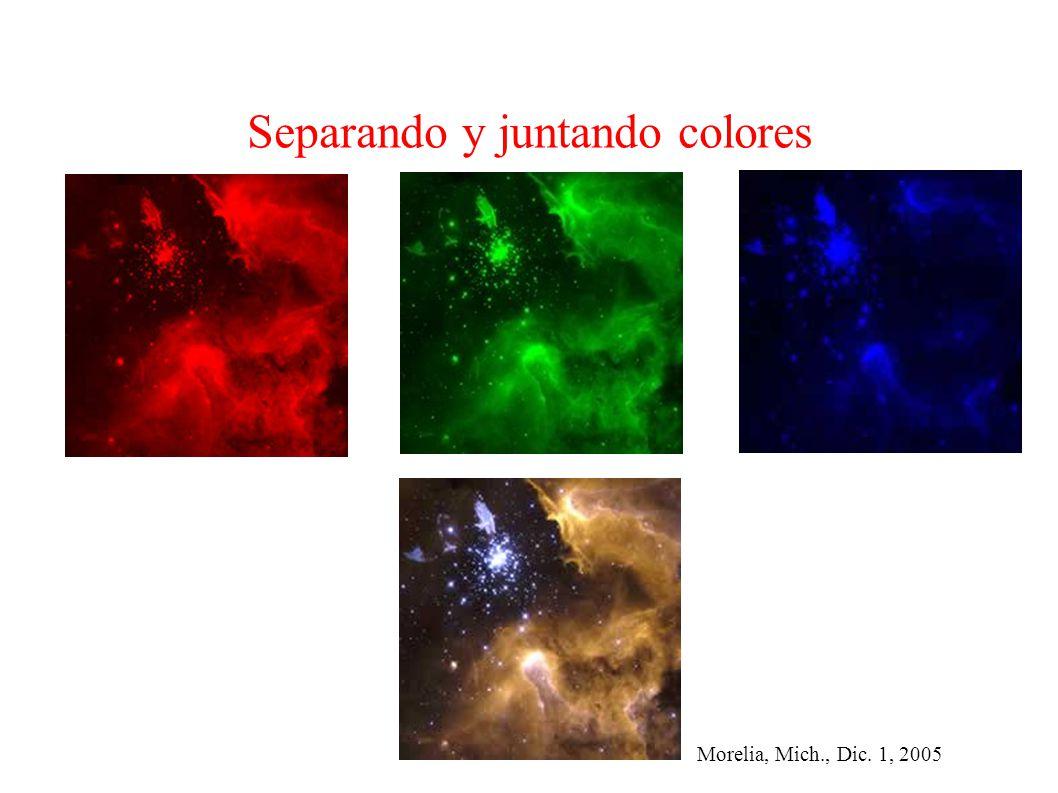 Morelia, Mich., Dic. 1, 2005 Separando y juntando colores