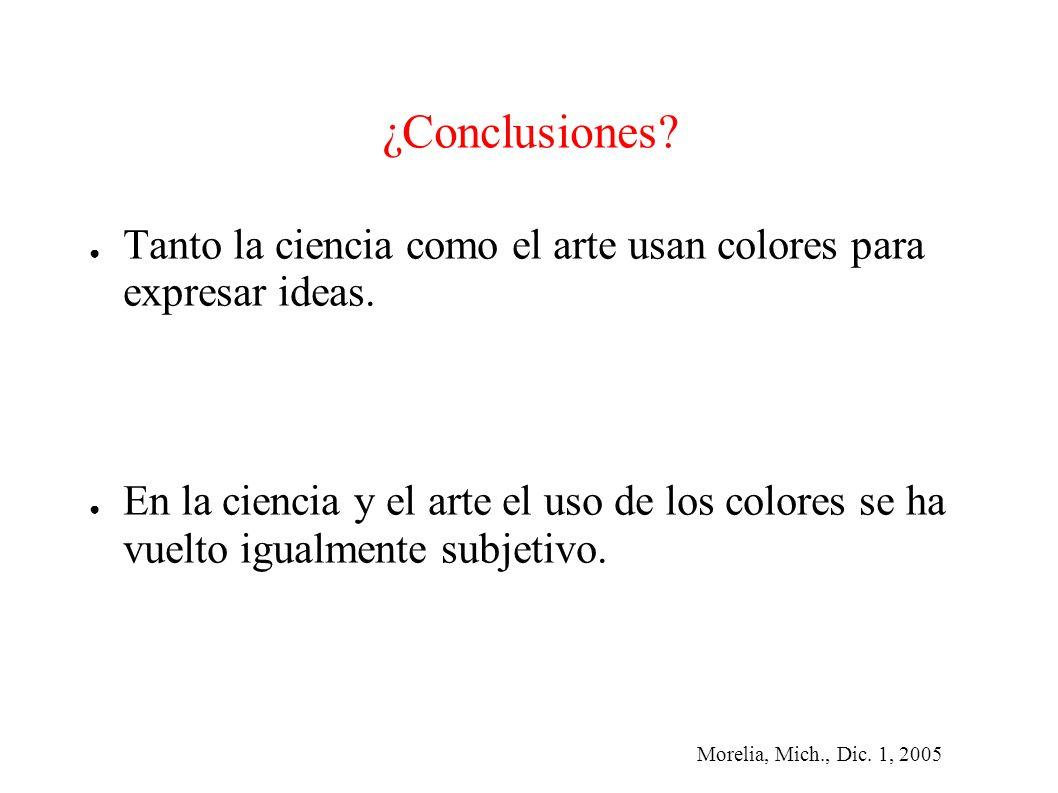 Morelia, Mich., Dic. 1, 2005 ¿Conclusiones.