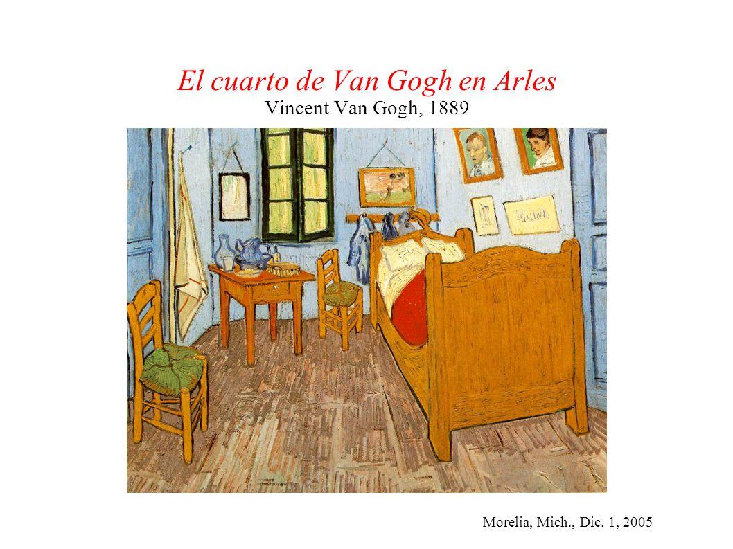 Morelia, Mich., Dic. 1, 2005 El cuarto de Van Gogh en Arles Vincent Van Gogh, 1889