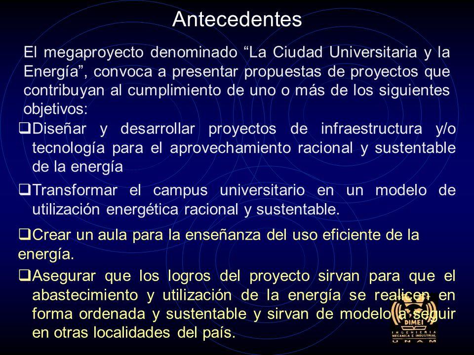 Proyecto para el establecimiento de una unidad demostrativa de generación distribuida con efectividad basada en la aceptación del usuario. Propuesta p