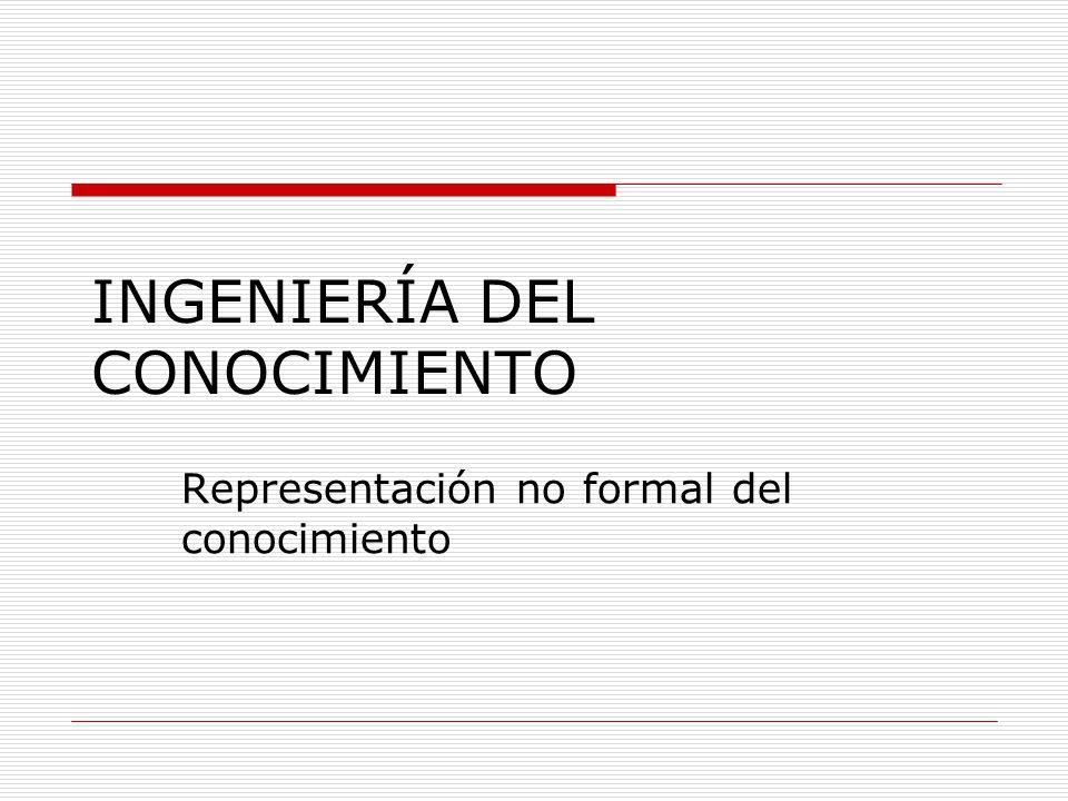 INGENIERÍA DEL CONOCIMIENTO Representación no formal del conocimiento