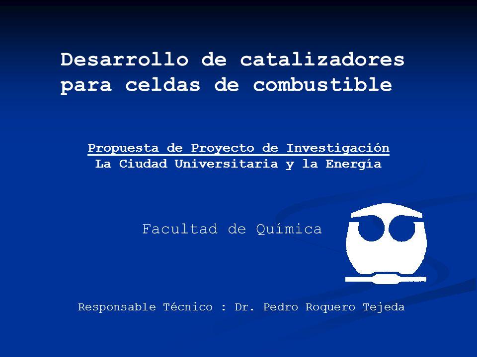 Desarrollo de catalizadores para celdas de combustible Propuesta de Proyecto de Investigación La Ciudad Universitaria y la Energía Facultad de Química