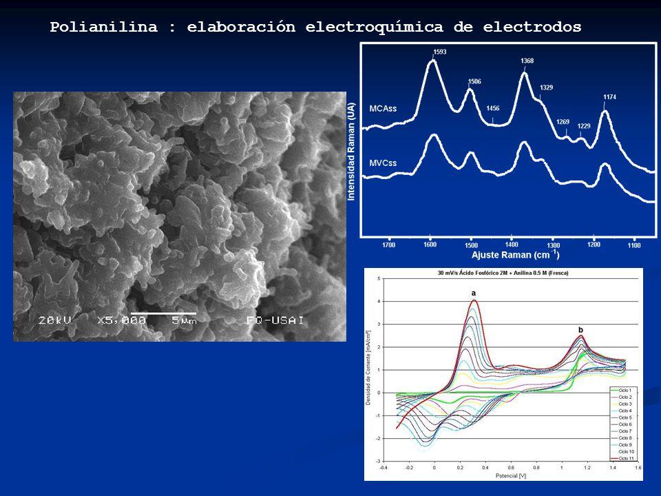 Polianilina : elaboración electroquímica de electrodos