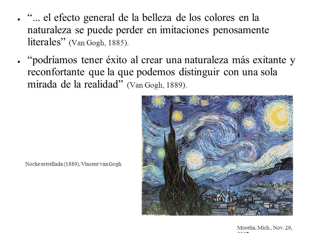 Morelia, Mich., Nov. 29, 2007... el efecto general de la belleza de los colores en la naturaleza se puede perder en imitaciones penosamente literales