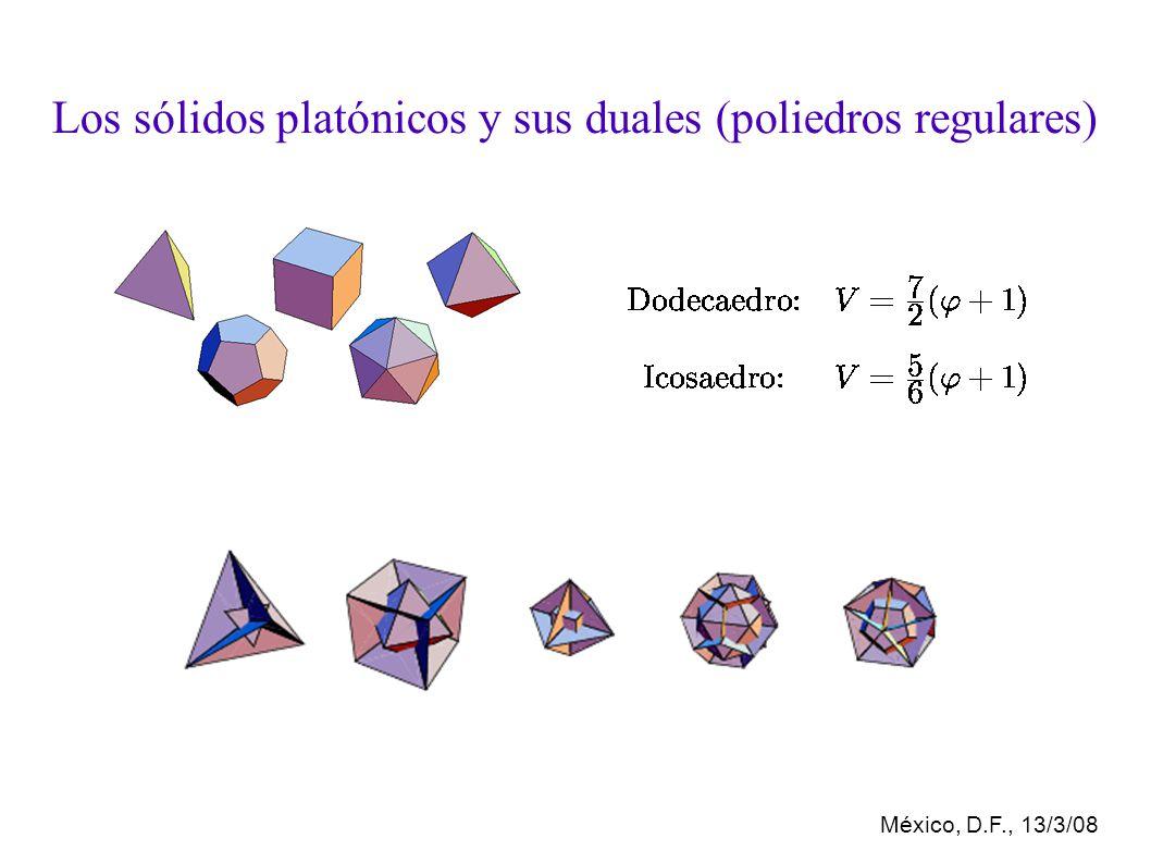 México, D.F., 13/3/08 Los sólidos platónicos y sus duales (poliedros regulares)