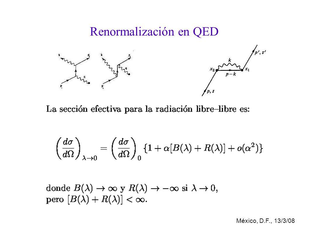 México, D.F., 13/3/08 Renormalización en QED