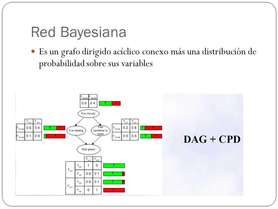 Tipos de redes Existen distintos tipos de redes Bayesianas: Naive Bayes: Redes simples.