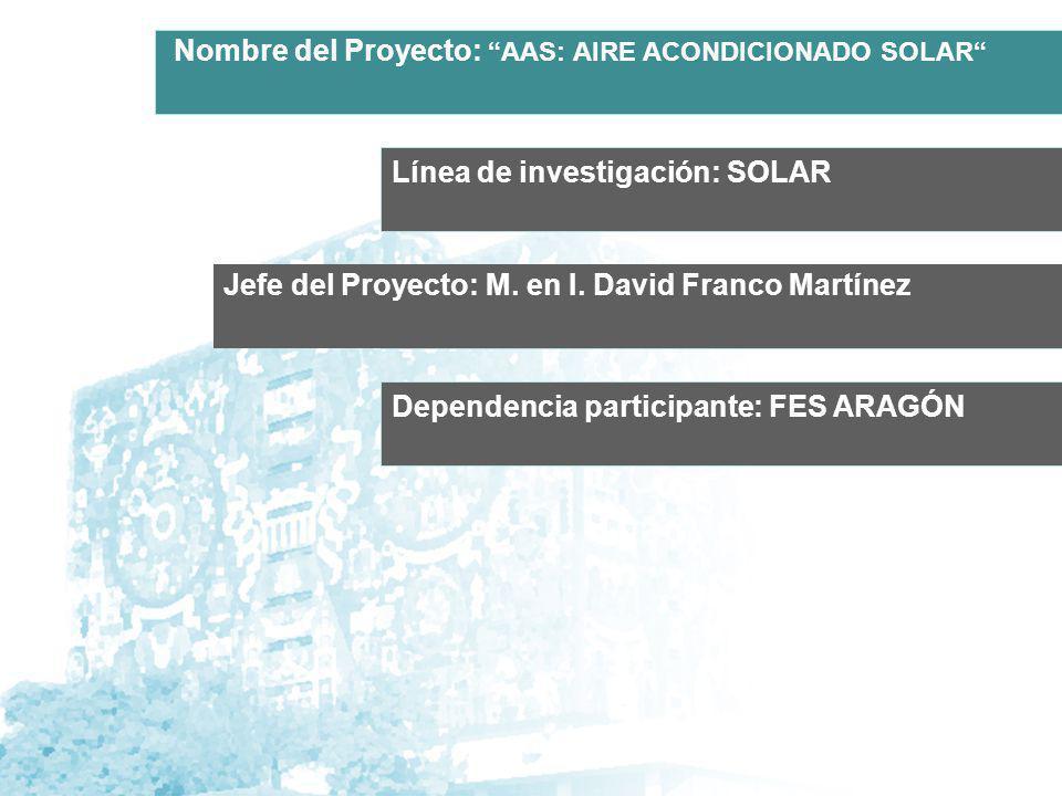 Línea de investigación: SOLAR Jefe del Proyecto: M.