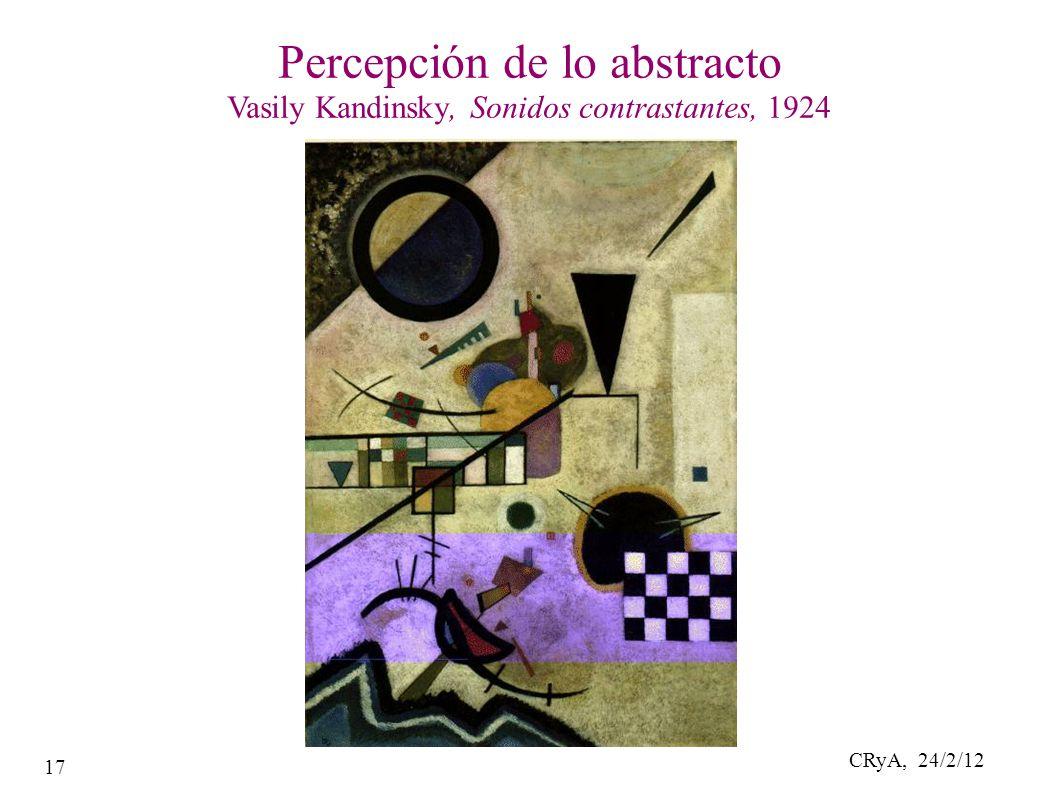 CRyA, 24/2/12 17 Percepción de lo abstracto Vasily Kandinsky, Sonidos contrastantes, 1924
