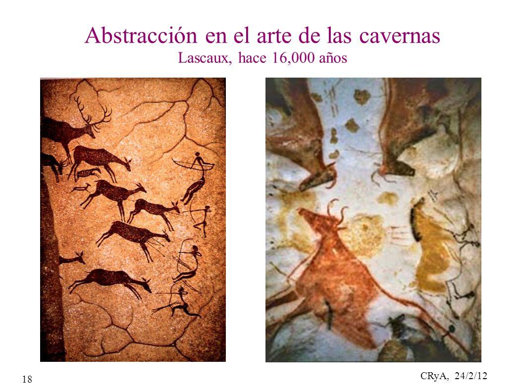 CRyA, 24/2/12 18 Abstracción en el arte de las cavernas Lascaux, hace 16,000 años