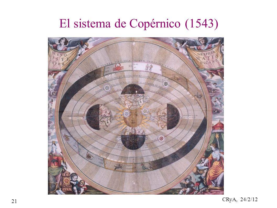 CRyA, 24/2/12 21 El sistema de Copérnico (1543)