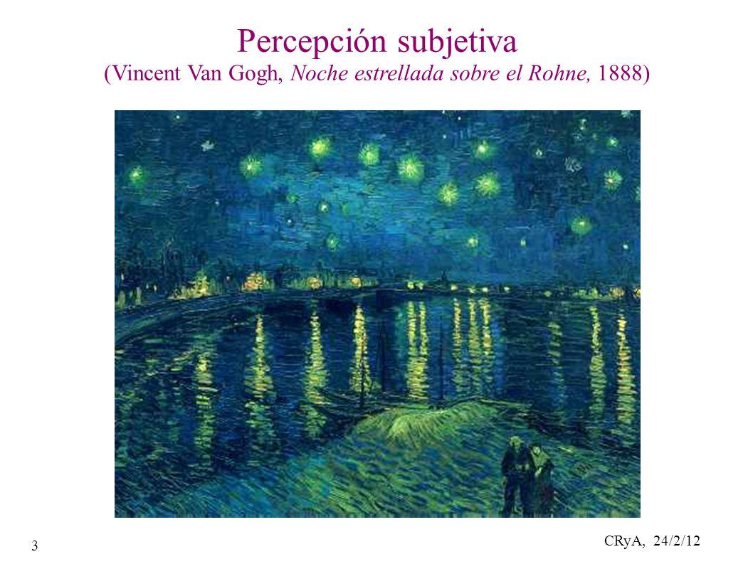 CRyA, 24/2/12 3 Percepción subjetiva (Vincent Van Gogh, Noche estrellada sobre el Rohne, 1888)