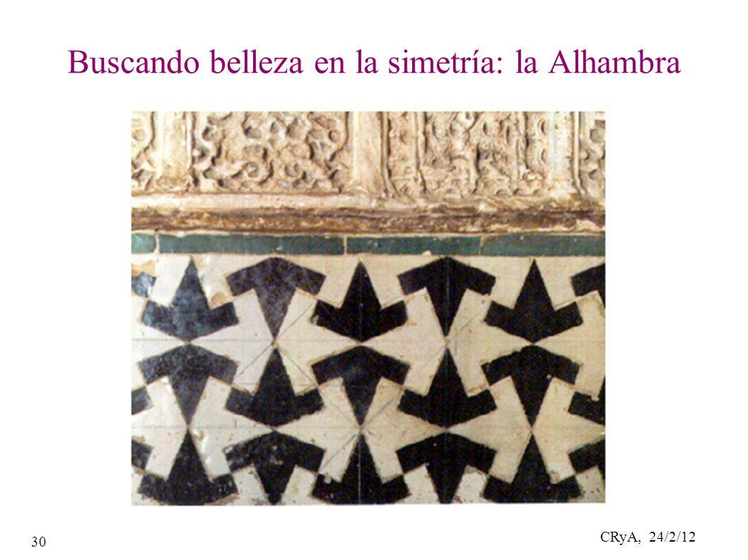 CRyA, 24/2/12 30 Buscando belleza en la simetría: la Alhambra