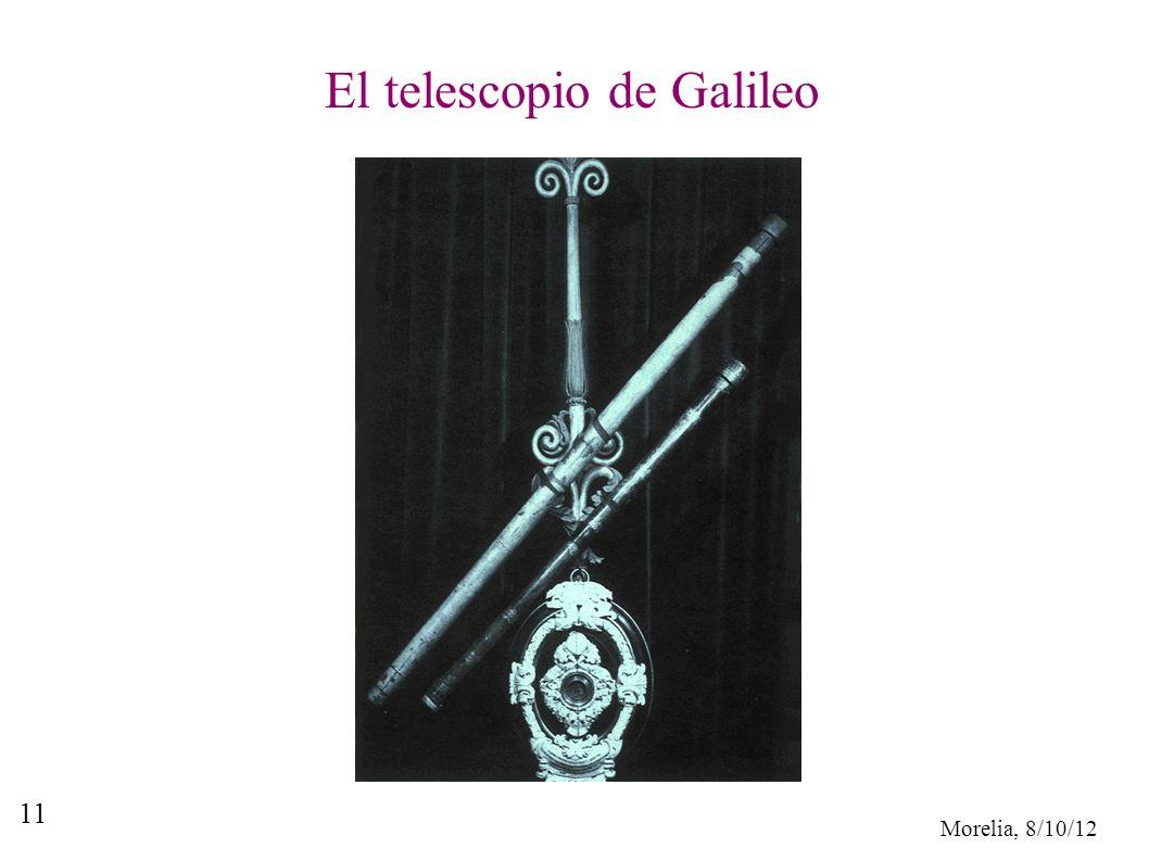 Morelia, 8/10/12 11 El telescopio de Galileo