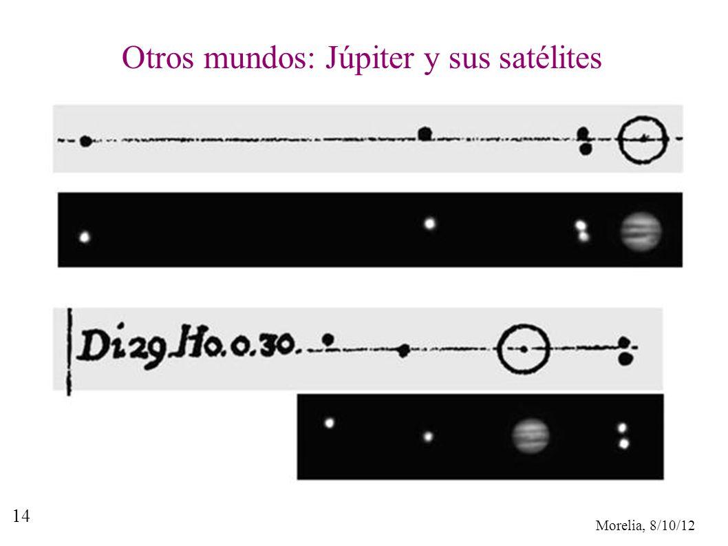 Morelia, 8/10/12 14 Otros mundos: Júpiter y sus satélites