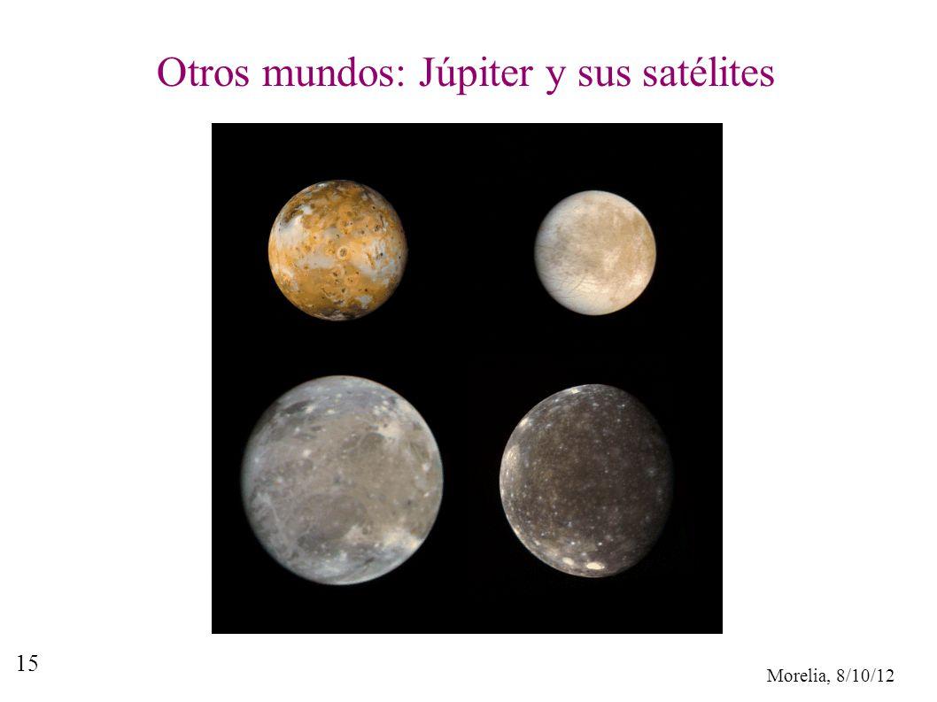Morelia, 8/10/12 15 Otros mundos: Júpiter y sus satélites