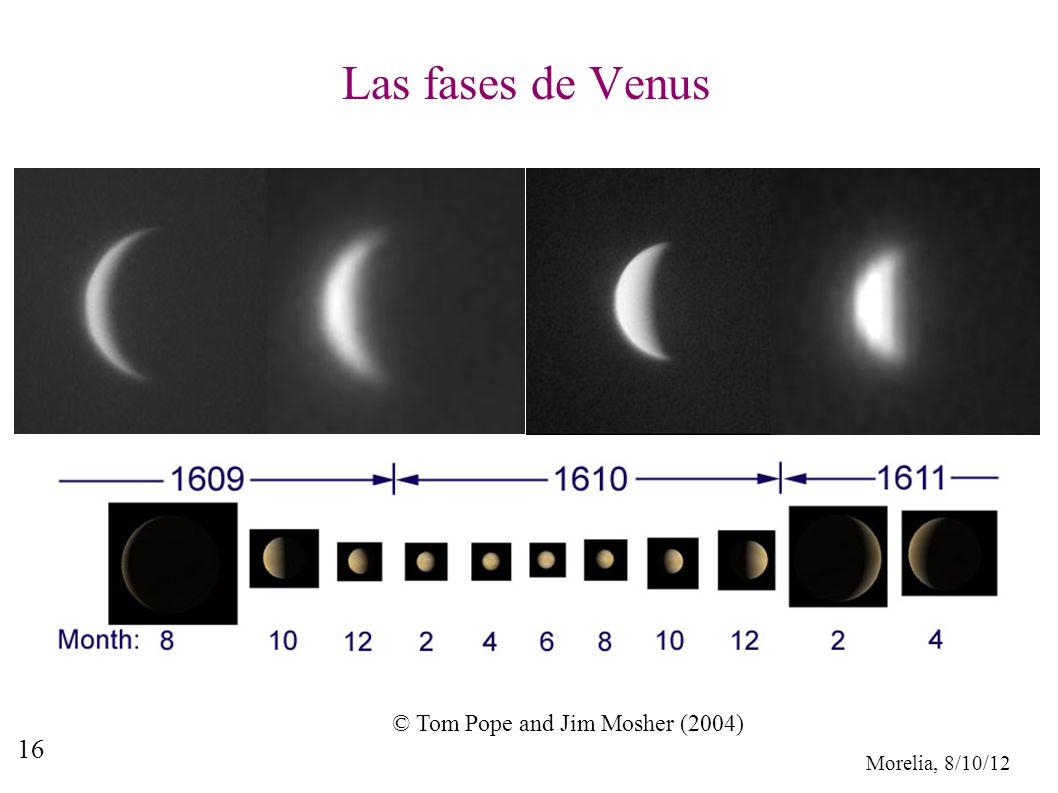 Morelia, 8/10/12 16 Las fases de Venus © Tom Pope and Jim Mosher (2004)
