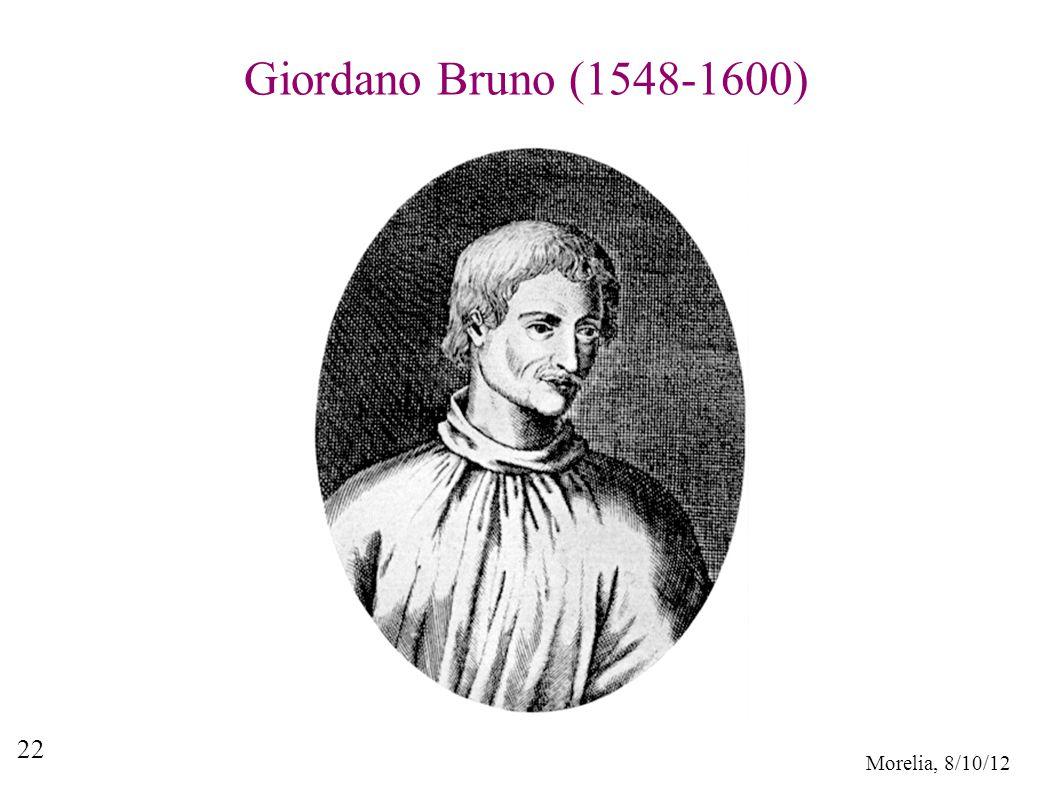 Morelia, 8/10/12 22 Giordano Bruno (1548-1600)