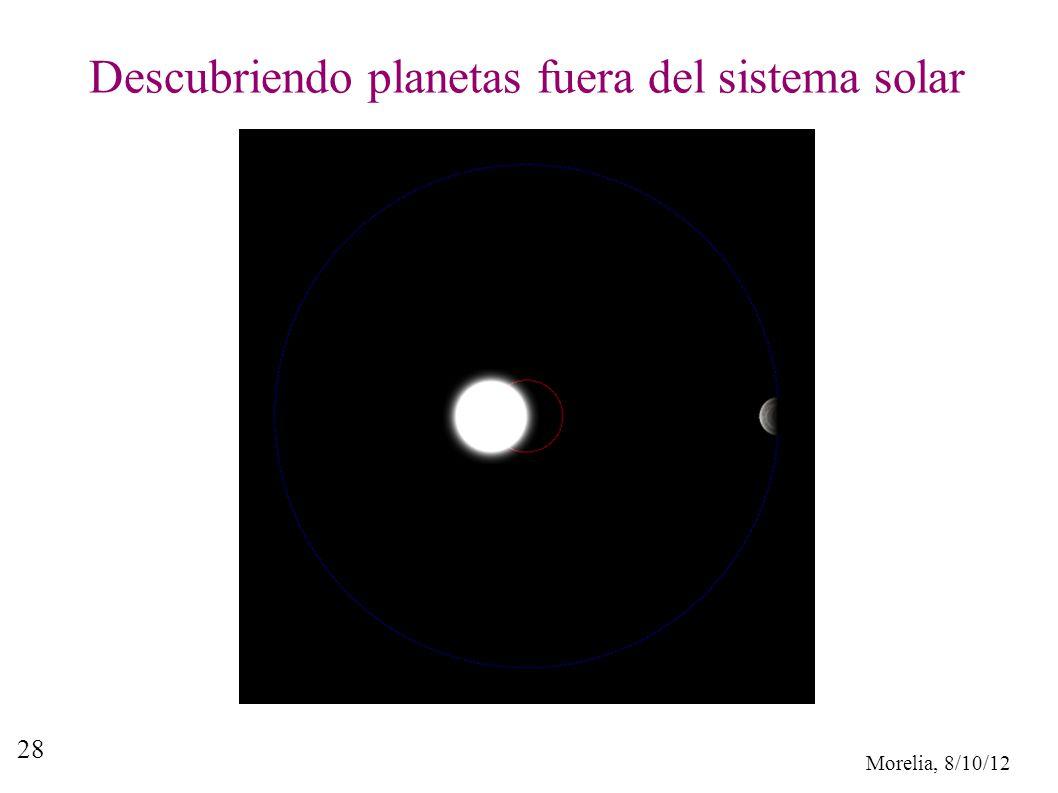 Morelia, 8/10/12 28 Descubriendo planetas fuera del sistema solar