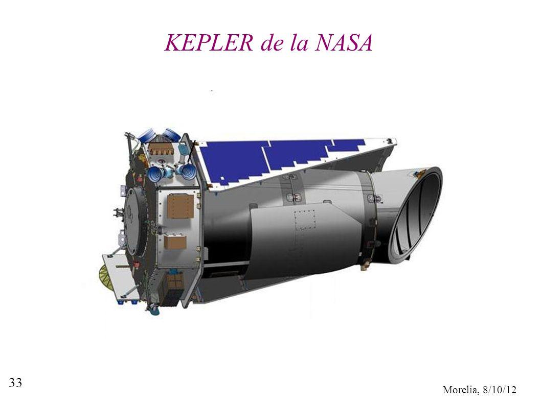 Morelia, 8/10/12 33 KEPLER de la NASA