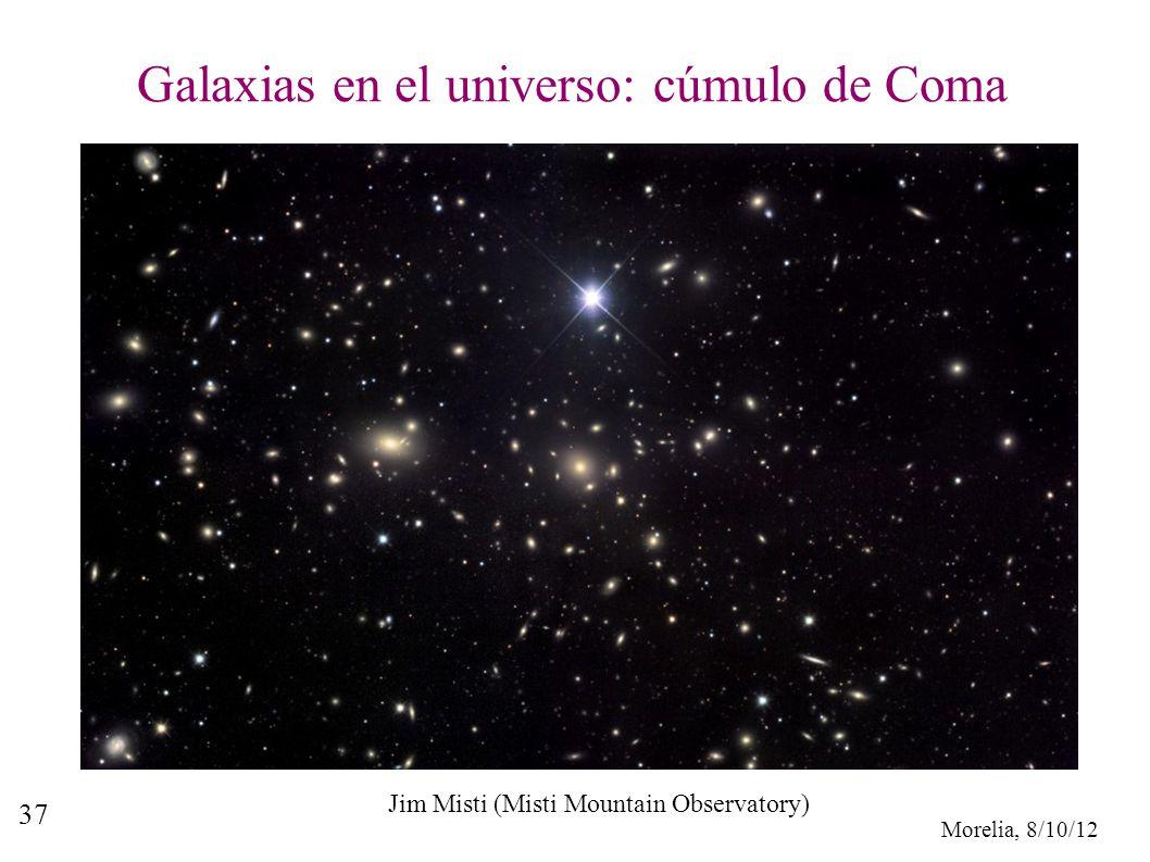 Morelia, 8/10/12 37 Galaxias en el universo: cúmulo de Coma Jim Misti (Misti Mountain Observatory)