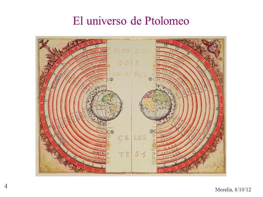 Morelia, 8/10/12 4 El universo de Ptolomeo