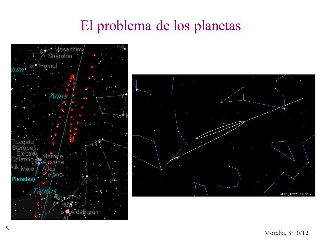 Morelia, 8/10/12 5 El problema de los planetas
