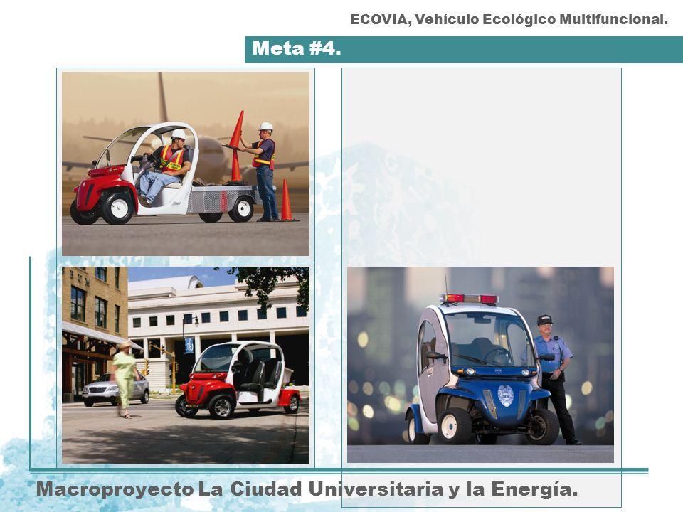 Meta #4. Macroproyecto La Ciudad Universitaria y la Energía. ECOVIA, Vehículo Ecológico Multifuncional.