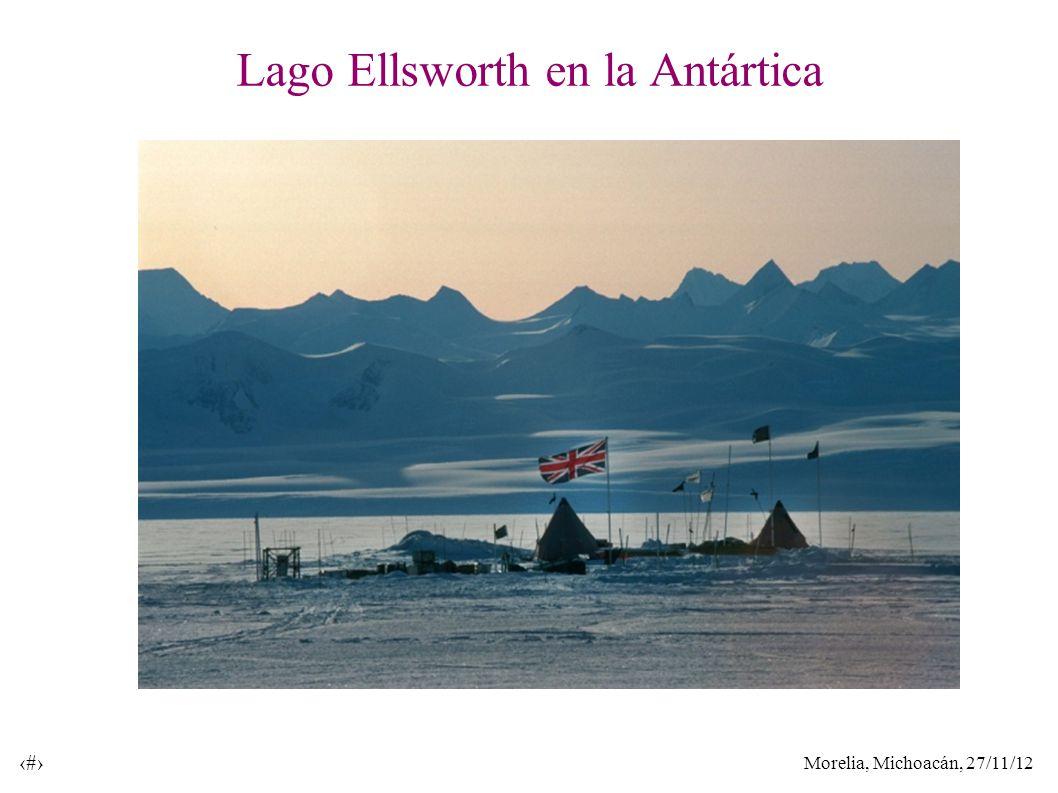 Morelia, Michoacán, 27/11/12 11 Lago Ellsworth en la Antártica