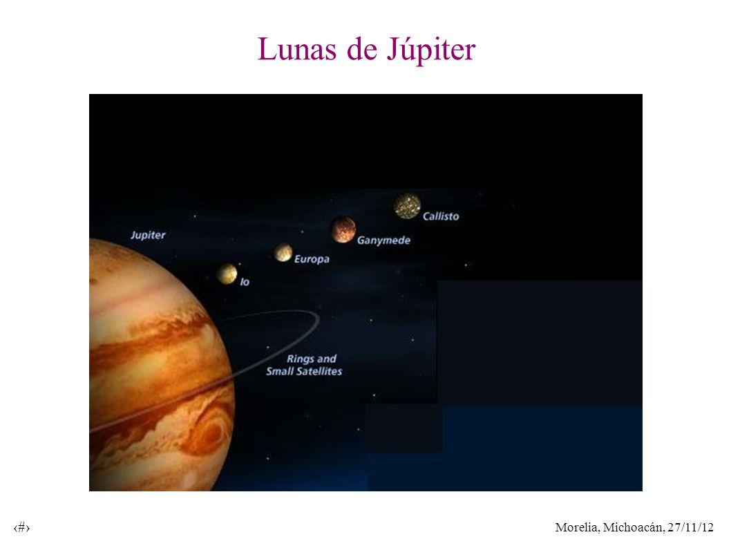 Morelia, Michoacán, 27/11/12 13 Lunas de Júpiter