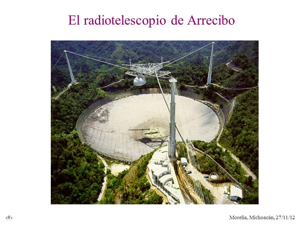 Morelia, Michoacán, 27/11/12 39 El radiotelescopio de Arrecibo