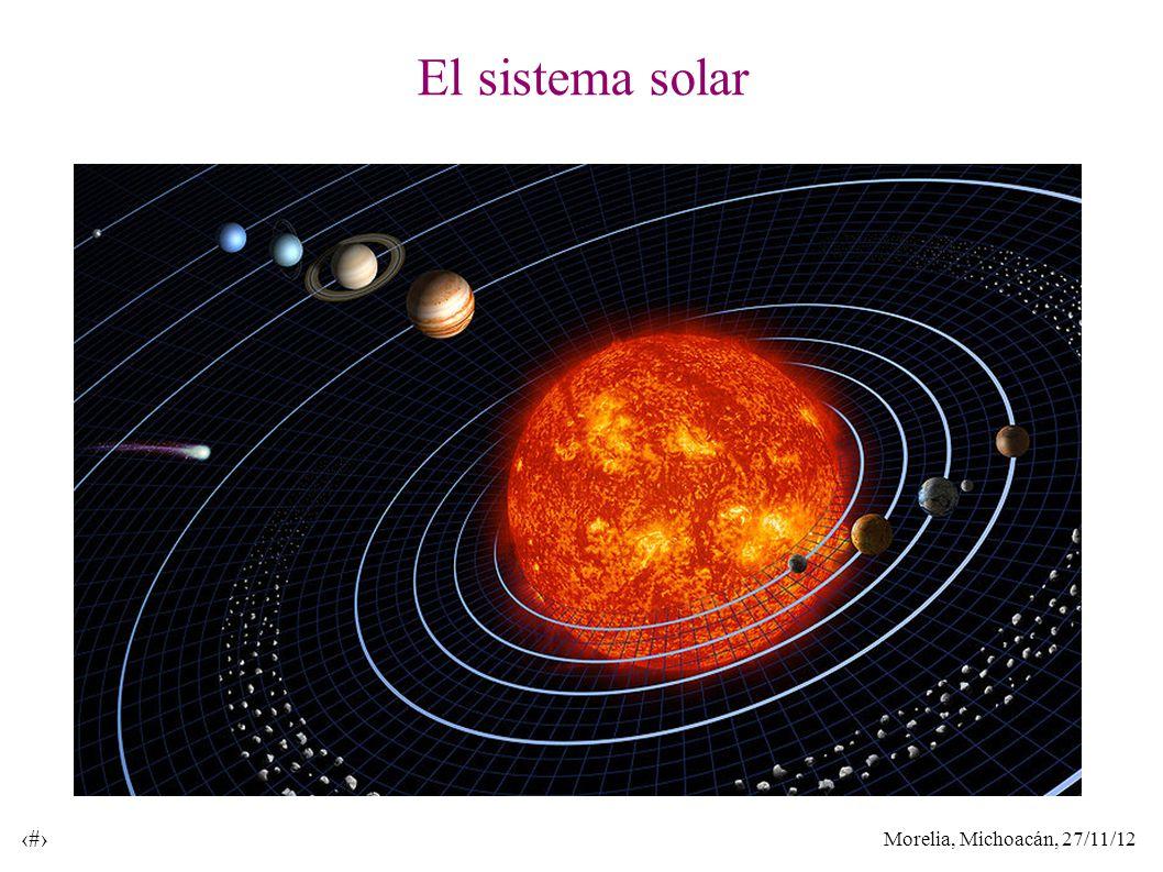 Morelia, Michoacán, 27/11/12 4 El sistema solar
