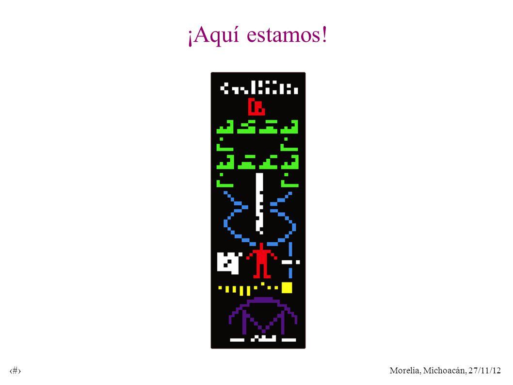 Morelia, Michoacán, 27/11/12 40 ¡Aquí estamos!